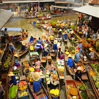 2 Tage • Private Tour Maeklong Train Market und Amphawa