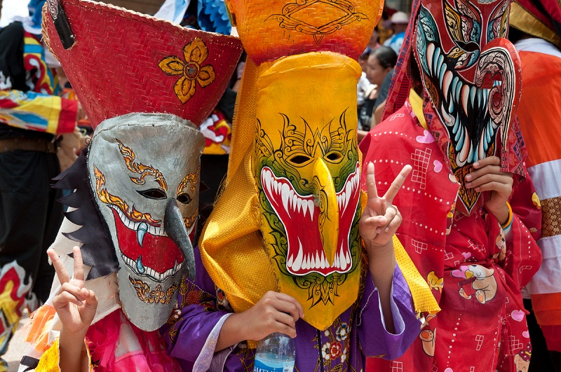 Thai Ghost Masks