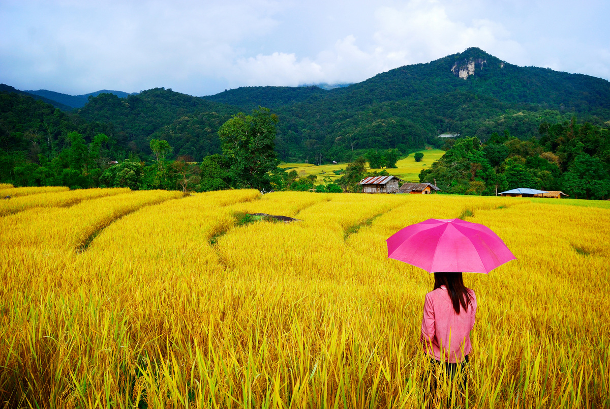 Thai Girl Umbrella
